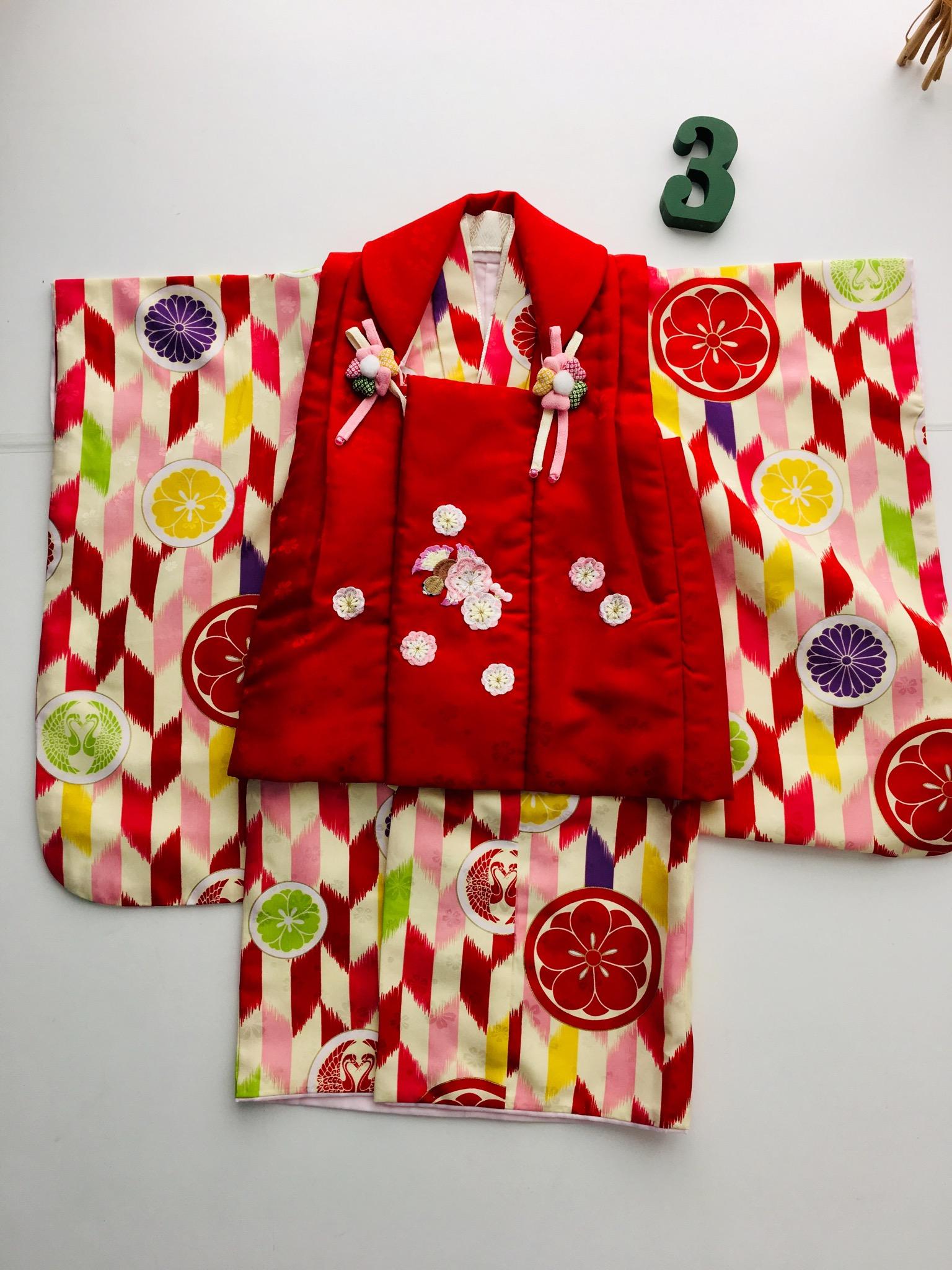 3歳女の子 和装③